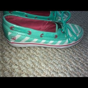 Girls sperry top-sider slip on shoes